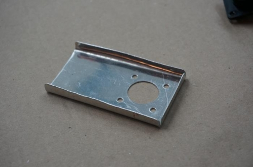 Bracket for roll servo wiring CPC connector