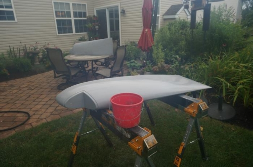Wet sanding wing tips