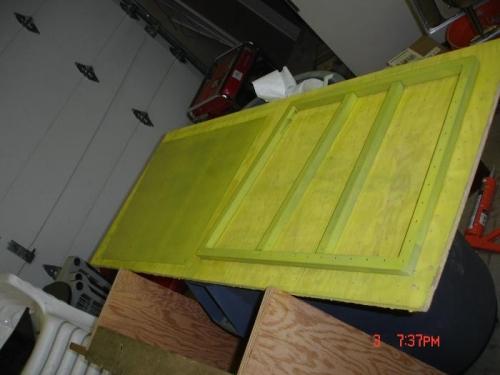 Cargo door primed