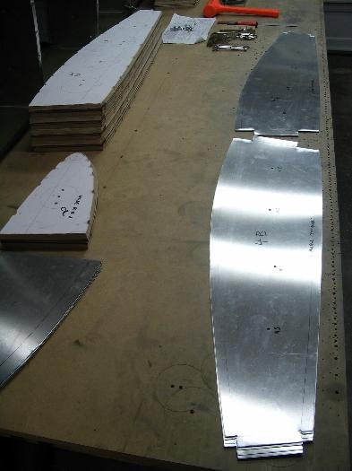 Blanks ready to bend