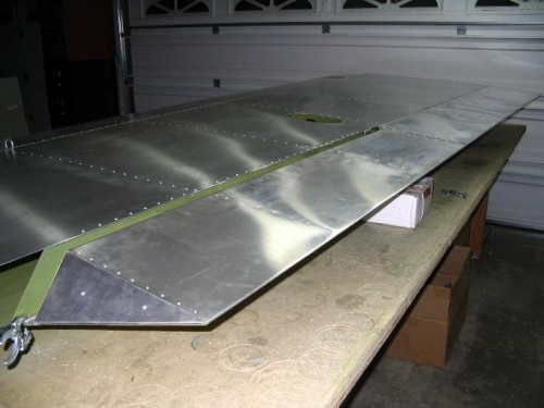 Test fitting the aileron and flap.