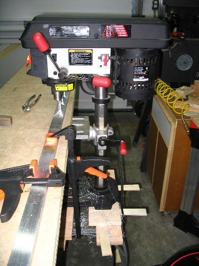 My table-adjacent drill press