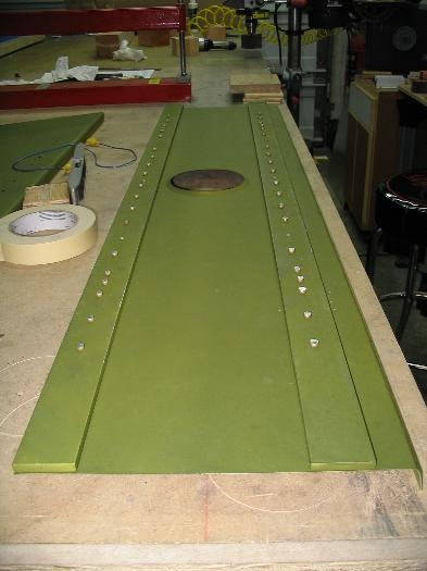 Inside showing shop heads formed by riveting