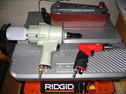 Air riveter and air drill