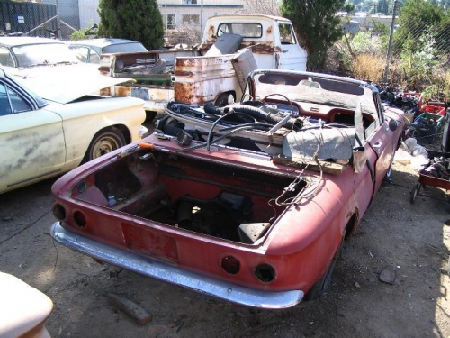 Its former home--a 1963 Monza Convertible