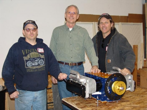 Mark Petniunas (Falcon Machine Shop), me and William Wynne