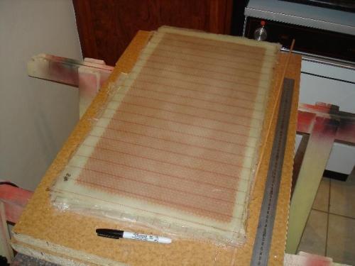 Making honeycomb panels