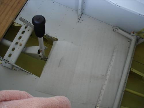 Riveting cockpit floor