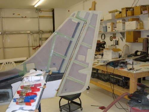 Rudder preliminary fit