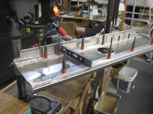 Front Spar on drill press
