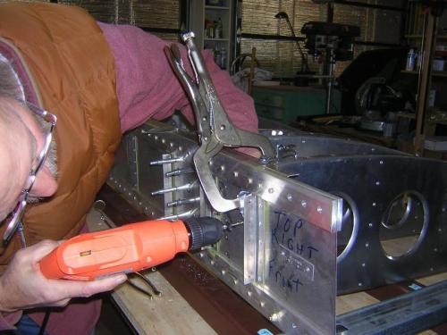 Drill rear rib to spar