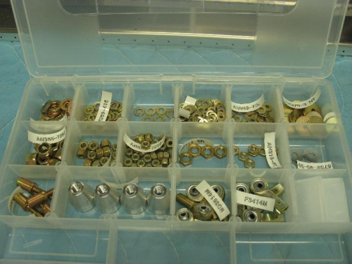 Nuts and washers.