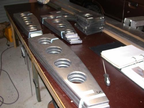 Parts laid out