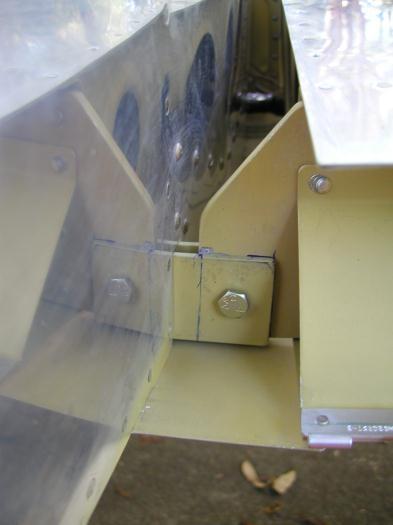 Right rear spar drilled