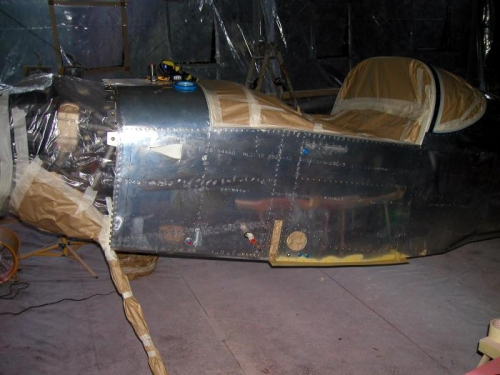Cockpit area masked off