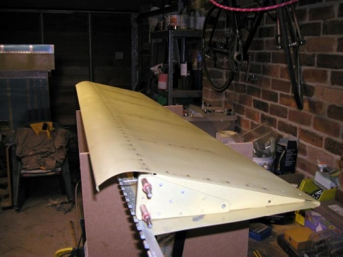 Inboard end / top view of completed flap