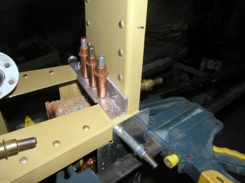 Rear spar and elevator stop drilled