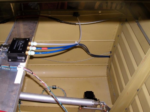 ADAHRS with pitot, staic and angle of attack lines installed