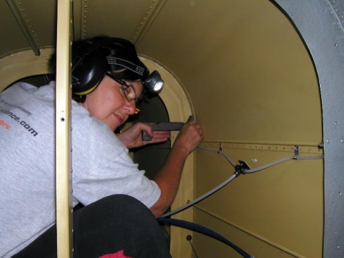 Deep in the bowls of the fuselage
