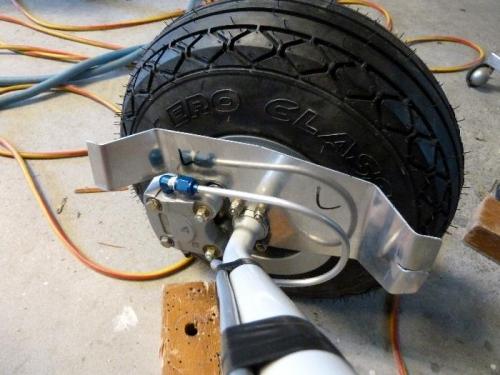 Left side brake line installed