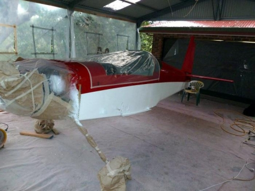 Right side of fuselage in natural light with a truer colour
