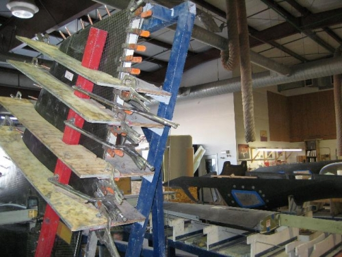 Bonded and clamped Vertical stabilizer.