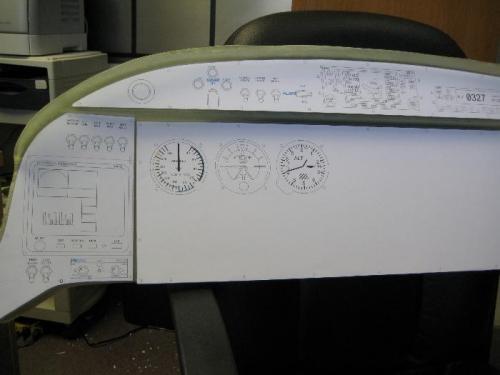 Mockup instrument panel