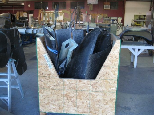 Packed control surfaces/cowling
