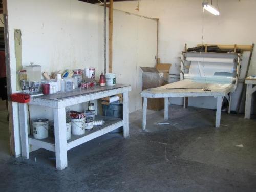 Fibreglass layup benches