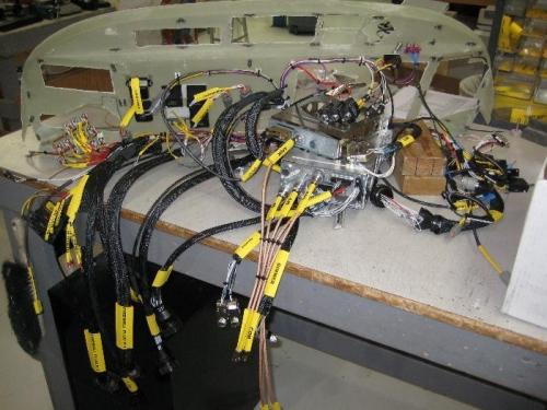 Instrument panel in progress
