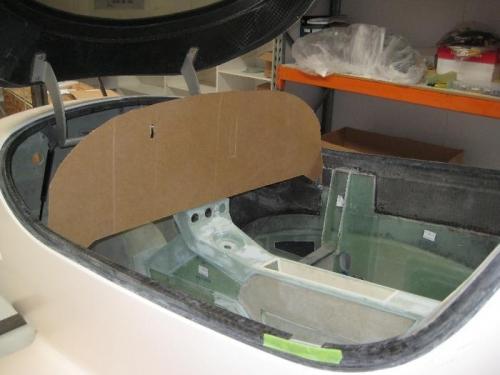 Cardboard dummy panel.