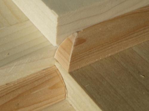 Notice detail to hide end grain