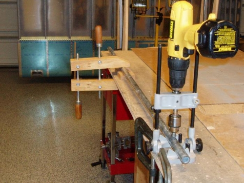 Clamped and ready to countersink