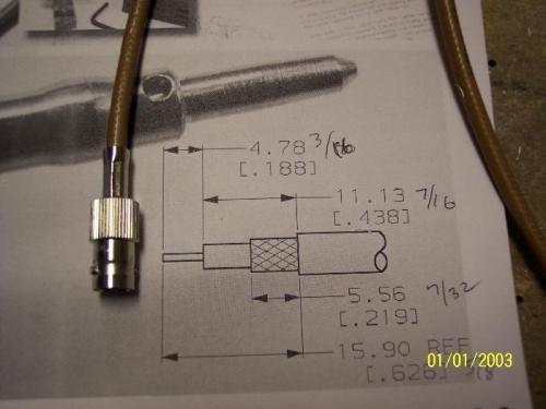 Coax connector for VOR antenna