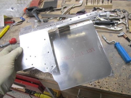 Ordered new lower baffle