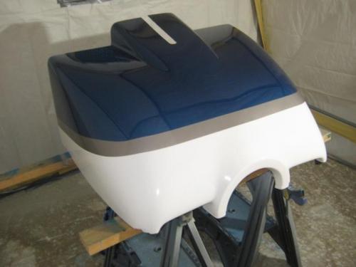 Repainted lower cowl