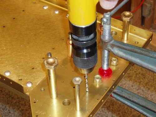 Drill shear bar rivets