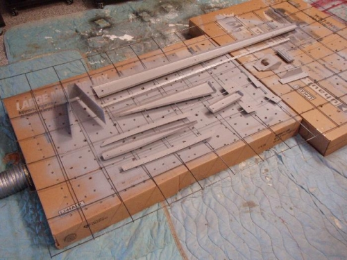 Primer sticks and covers in 3 light coats