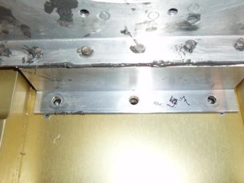 Inboard bolt holes line up