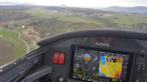 Landing strip upper left