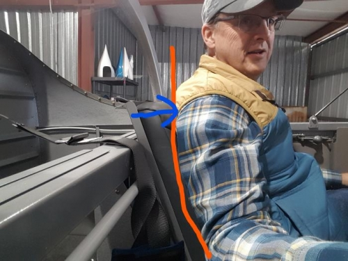 Top of Seat Pushes me forward