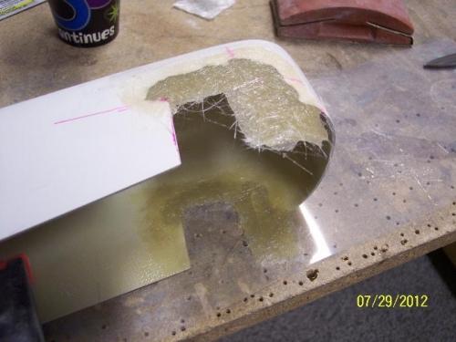 Adding back fiberglass
