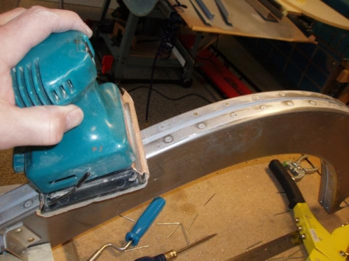 Sanded rivet heads to be real smooth