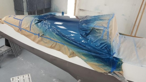 Painted the blue top