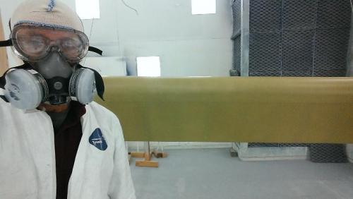Sprayed the etch primer
