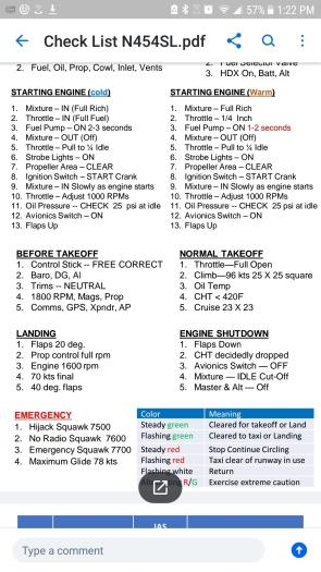 DRAFT Check List