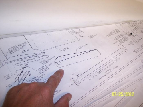 Rudder bottom plastic tip