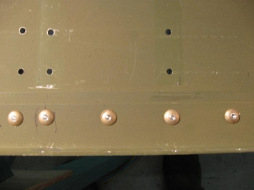 Pilot drilled the 3/16 rivets to 1/8 to locate centre and then drill 1/2 way to 5/32  with drill guide