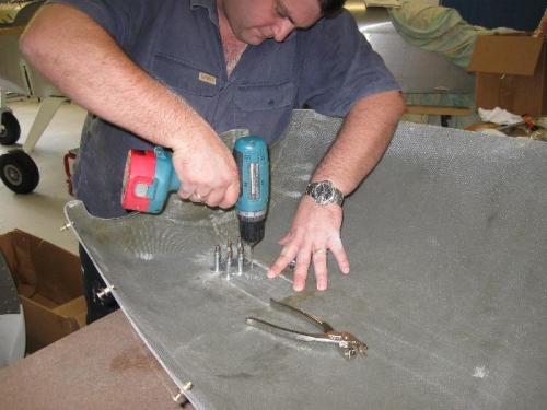 back drilling through hinge
