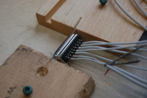 I made a jig to hold the plug during  the soldering operation